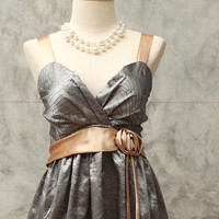 Silver gray cocktail  dress/ size 2 - 8