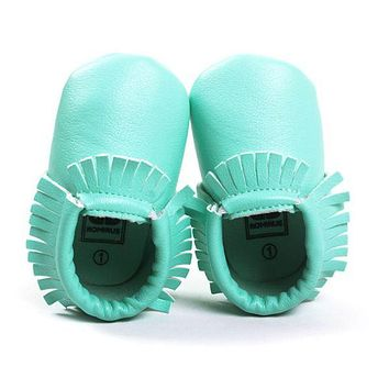 Princess Toddler Infant Soft Sole PU Leather Shoes Tassels Baby Various Bebe Moccasin 0-18M