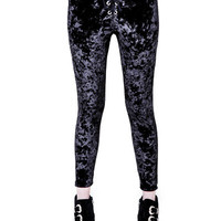 PRE-ORDER: Howl Crushed Velvet Grommet Leggings