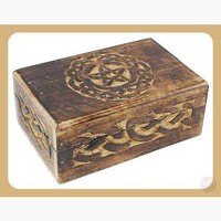 Celtic Circle Pentagram Trinket Box