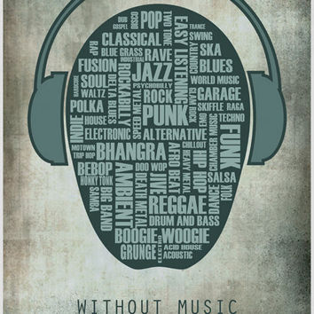 I love music art print by purplecactusdesign on Etsy