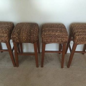 Pottery Barn Seagrass Bar Stools From Krrb Local Classifieds