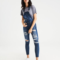 AEO Denim X Jegging Overall, Medium Destroy
