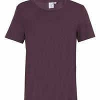 PURPLE MARL NEW FIT CLASSIC SCOOP NECK T-SHIRT