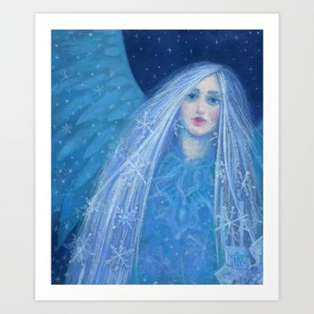 """Metelitsa"", Snow Maiden, Snowgirl, Snegurochka, fantasy art, Christmas &  New Year Art Print by Clipso-Callipso"