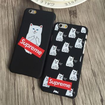ICIKUNT Supreme Pocket Cat  Iphone 5 5s SE 6 6s 6plus 6splus 7 7plus Cover Case