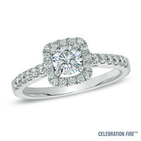 Celebration Fire® 7/8 CT. T.W. Diamond Engagement Ring in 14K White Gold (H-I/SI1-SI2) - View All Rings - Zales