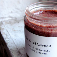 Rose & Chamomile Facial Scrub by MarbleandMilkweed on Etsy