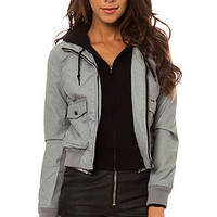 Obey Jacket Jealous Lover Jacket in Grey and Black
