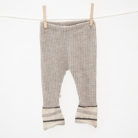 Alpaca Wool Baby Pants - Grey