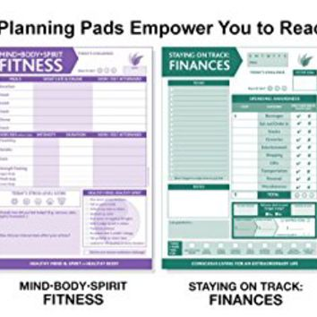 InnerGuide Planners, Staying on Track: FINANCES, 90-Page, Daily Tear-Off Planning Note Pad (6.5 x 9) The 5-Minute Life Makeover!