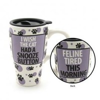 Cat Snooze Button Travel Mug