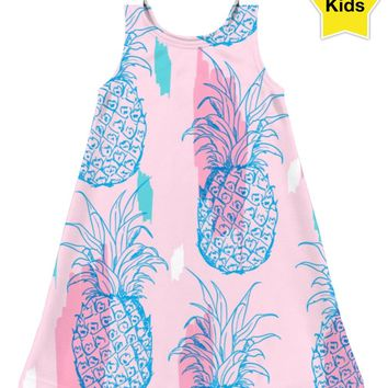 ROCD Pink Pineapple Children's Dress