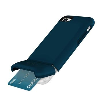 Incipio Stashback iPhone 8 & iPhone 7 Case with Credit Card Slot Holder and Foldable Back Panel for iPhone 8 & iPhone 7 - Navy