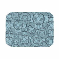 "Maike Thoma ""Layered Circles Design"" Blue Floral Place Mat"