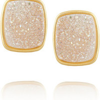 Dara Ettinger Alicia gold-plated druzy earrings – 50% at THE OUTNET.COM