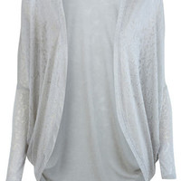 Grey Cocoon Burnout Cardigan - Apparel  - New In