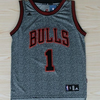 Derrick Rose Chicago Bulls 1 NBA Basketball Jersey Rev 30 Grey NBA Basketball Jersey Chicago Bulls