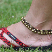 Brass Bell Anklet by brasslady on Etsy