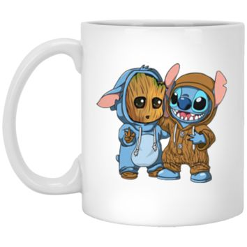 Groot And Stitch Forever 11 oz Mug