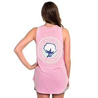 Tribal Print Katy Tank in Prism Pink by The Southern Shirt Co. - FINAL SALE