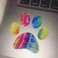 Doggy / Kitty Paw Adopt Tie Dye Luxury Macbook/Car/Tumbler/Yeti/Cup Vinyl Decal