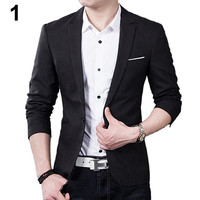 Men's Slim Blazer Formal Business Suit