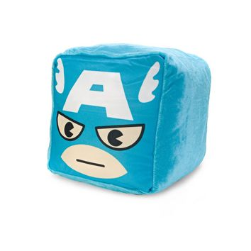 MARVEL Kawaii Art Collection Captain America Cushion Cube Plush Pillow