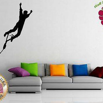 Wall Stickers Vinyl Decal Extreme Sport Rope Swing Funny Unique Gift ig956
