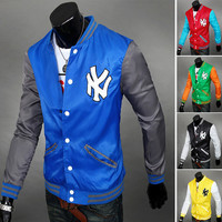 Color Contrast NY Yankees Baseball Varsity Jacket