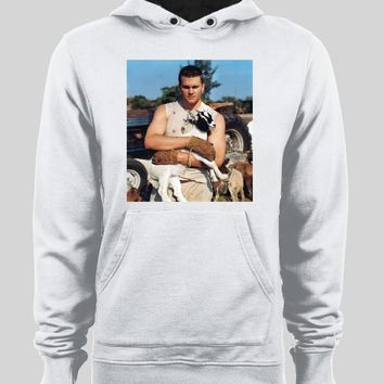 NEW ENGLAND'S TOM BRADY HOLDING GOAT HOODIE /SWEATER