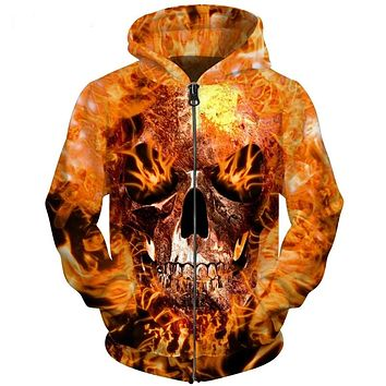Zipper Skull 💀 Hoodie High Quality Jacket