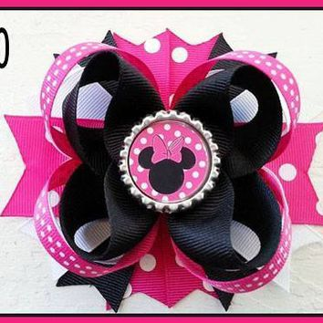 CHARACTER BOTTLE CAP HAIR BOWS - #80