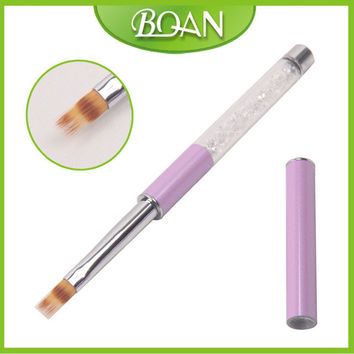 BQAN New Rhinestones Nail Art Ombre Brush Nylon Hair Drawing Pen Nail Liner Brush