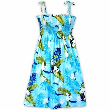 Ginger Breeze Blue Moonkiss Hawaiian Dress