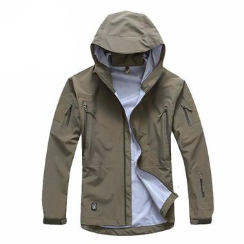 Men jacket military clothes camouflage army autumn jacket and coat.
