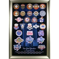 New York Yankees 27 World Series Titles Patch Collage (20x32 212-068)