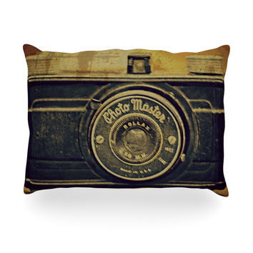 """Robin Dickinson """"Discarded Treasure"""" Vintage Camera Oblong Pillow"""