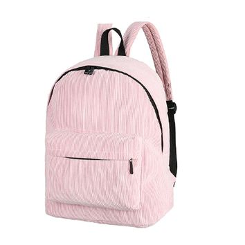 Vintage Unisex Corduroy Backpack Casual Preppy Chic  School Bags for Teenage Girls Women Backpack Rucksack Female Backpack