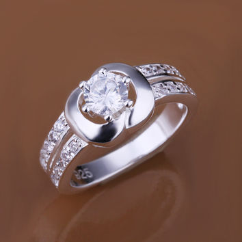 Insets Apple Silver Ring