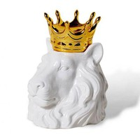 Famous Designer White Ceramic Lion