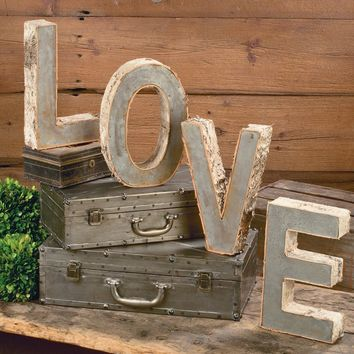 Tripar Love Word Letter Set - Sculptures & Figurines at Hayneedle