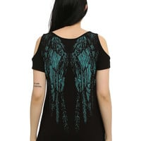 Wings Girls Cold Shoulder Top
