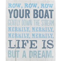 White & Blue Row, Row, Row Your Boat Plaque | Shop Hobby Lobby