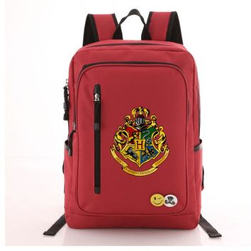 School Backpack High Quality 2018 New Harry Potter Hogwarts Printing Backpack Unisex  Canvas School Bags Men Laptop Backpack AT_48_3