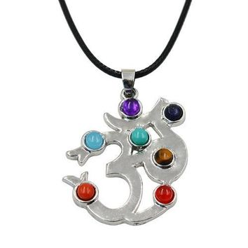 Hinduism Mandala Zen Tree Of Life Healing Reiki Meditation 7 Chakras Necklaces&Pendants Yoga Jewelry collier femme  bijoux Women style15