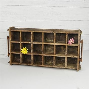 """Large Reclaimed Wood Cubby Tray 21"""" x 14"""""""