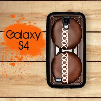 Samsung Galaxy S4 Phone Case Chocolate Cupcake  / Hard Case For S4 Rubber Trim For Galaxy S4