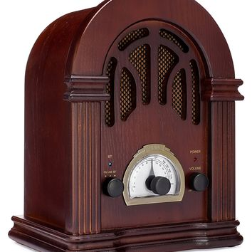 ClearClick Vintage Style AM/FM Radio with Bluetooth