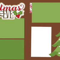 Christmas Eve Premade 2-page 12 X 12 Scrapbooking Page Layout or Page Kit